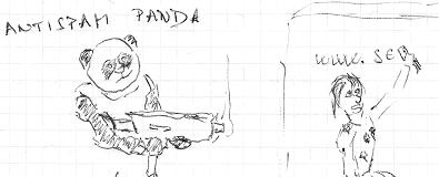 Antispam Panda - umělecké vyobrazení jednoho z Google algoritmů