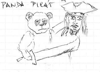 Panda Pirát - algoritmus Google s hlavou naprosto neznámého a nikoho nepřipomínajícího piráta