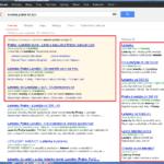 Nová varianta vyhledávání Google, kde je více reklamy než výsledků vyhledávání.