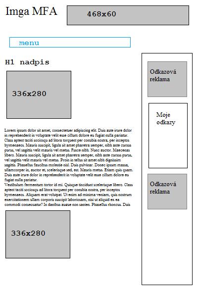 Takhle nějak jsem vytvářel MFA stránky na začátku.