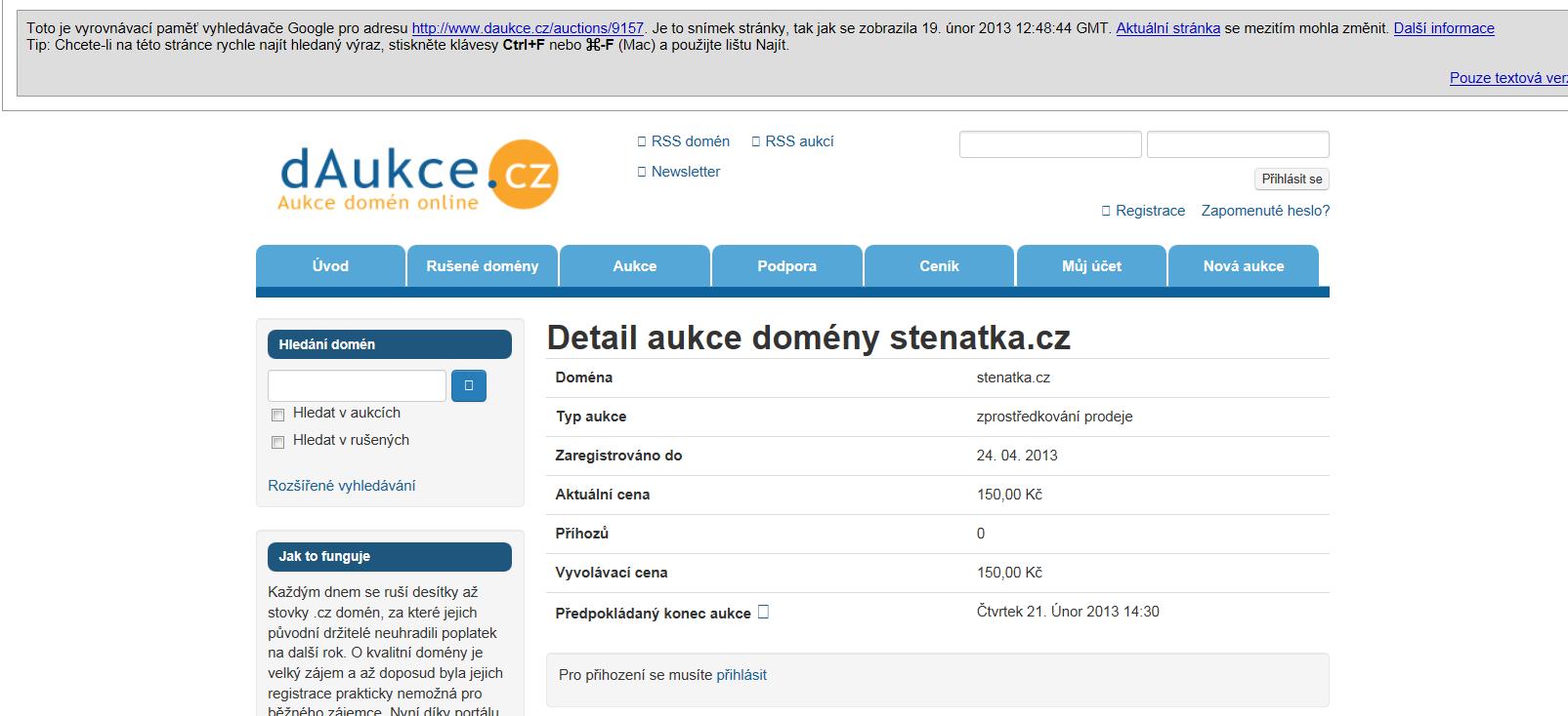 Prodané .cz domény 9. – 15. května