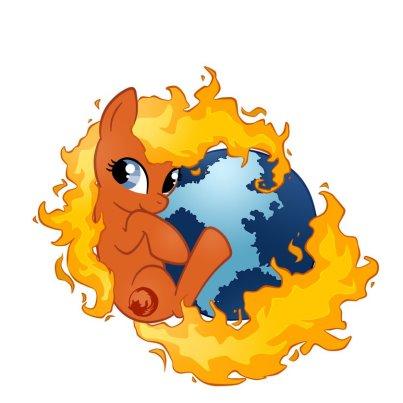 FireFox pony - zdroj. facebook.com/Firefox