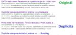 Duplicita na superautoritativní stránce vs vyhledávače II.