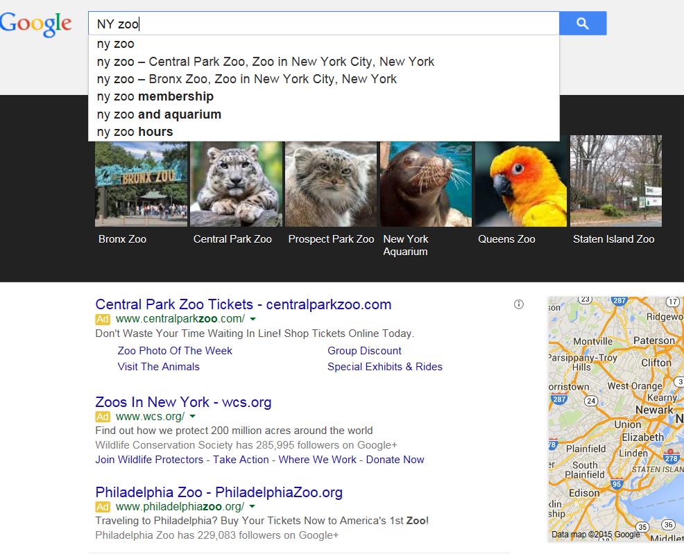 Google Knowledge Graph je přímo napojený na našeptávač.