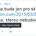 Nové tlačítko pro sledování statistik příspěvků na Twitter