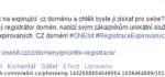 Další registrátor chytá .cz domény