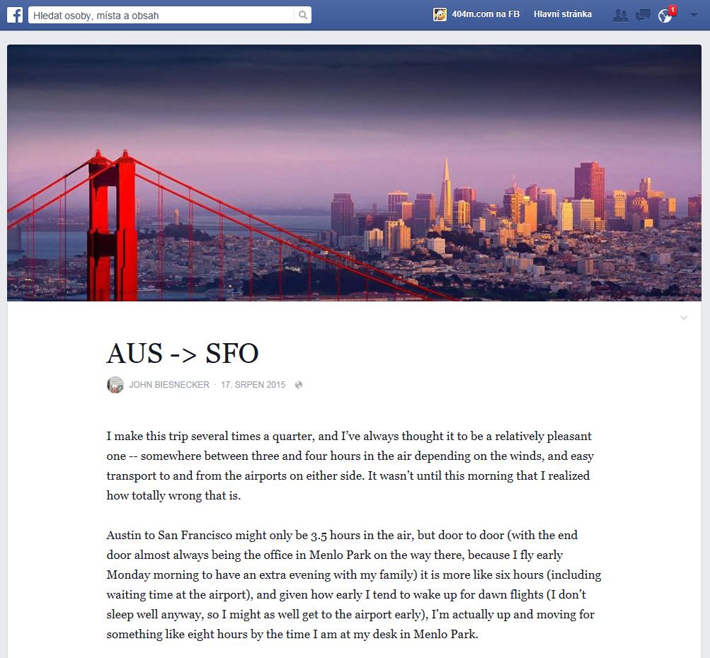 Nové poznámky (notes) na Facebook jsou rozhodně krok k blogování.