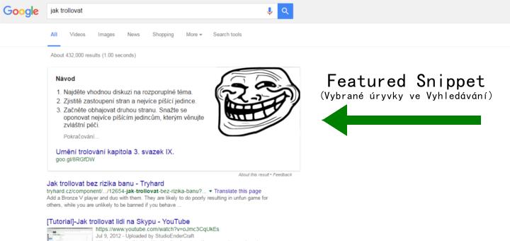 Jak optimalizovat obsah pro Google Featured Snippet