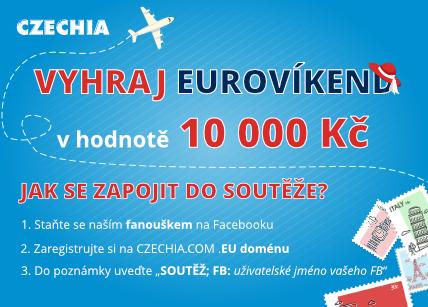 Vyhrajte EUROVÍKEND za 10.000 Kč  s CZECHIA.COM